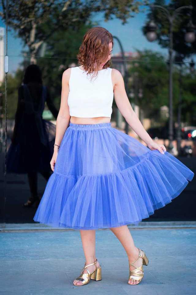 falda tipo bailarina