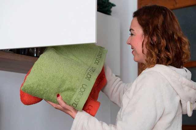 un toque alegre con toallas de colores