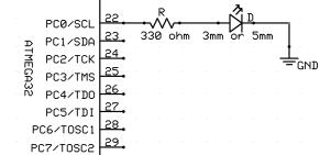 LED Blinking Schematic
