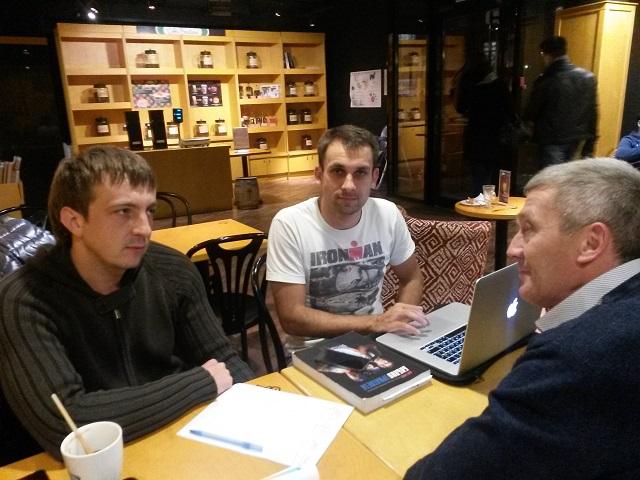 Ермин А., Исмагилов И. и Кашапов Р.И.: знакомство и обсуждение нюансов по видам спорта.