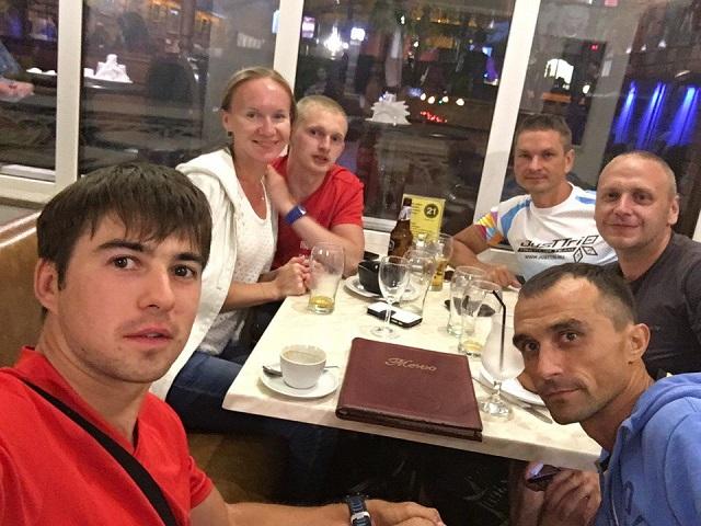 Триатлеты из Карелии. Вечер после старта Ironstar 113 Kazan 2016/