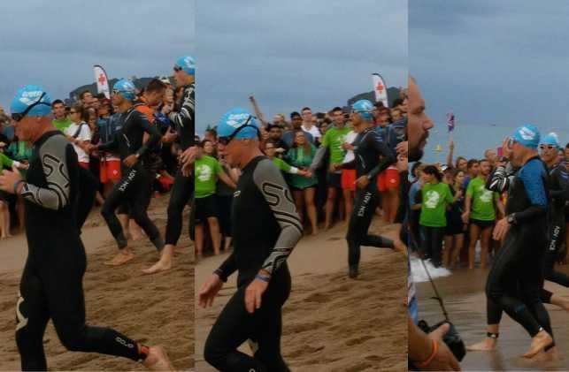 Мой старт. Плавательный этап Айронмен триатлон Барселона 2016.