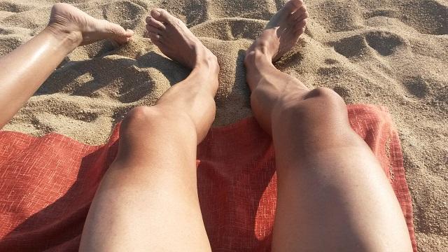 Осталось побрить ноги... к старту готов!))
