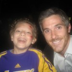 "Max with Mr. David Annable on the set of ""Brothers & Sisters"""