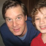 "Max with Mr. Peter Krause on the set of ""Parenthood"""