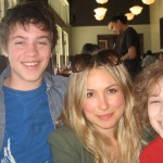 "Maxim with Connor Jessup and Sarah Carter of ""Falling Skies"""