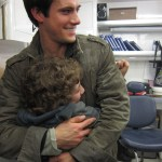 Maxim Knight with Drew Roy on Falling Skies Season 2