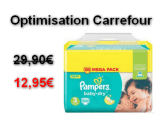Carrefour : Le Mega Pack Changes Pampers x100 à 12,95€ au lieu de 29,90€ (Optimisation)