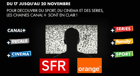 orange sfr les cha nes canal gratuites du 17 au 20 novembre 2016. Black Bedroom Furniture Sets. Home Design Ideas