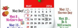 Marketing Calendar May 2016