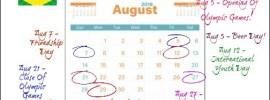 Marketing Calendar August 2016