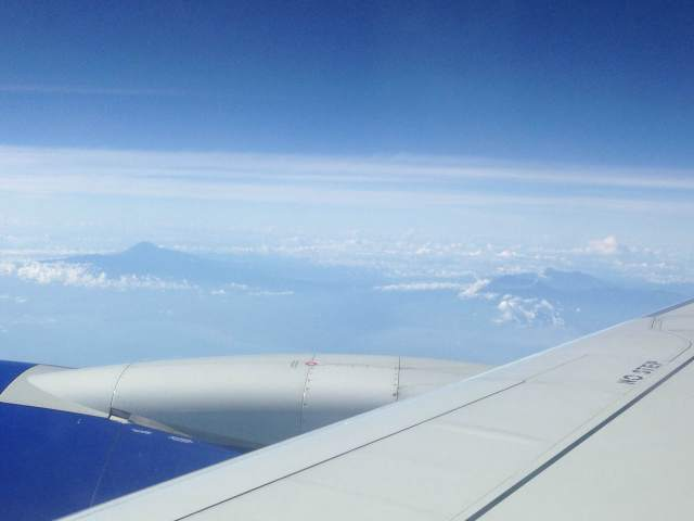 В небе над Бали