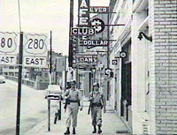 The National Guard shut down  the gambling establishments and patrolled the streets to maintain order.