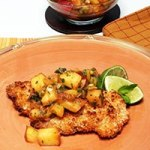 Coconut Peach Chicken with Peach salsa recipe – perfect for the summer!