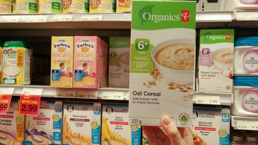 pc organics oat cereal