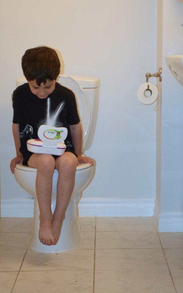 Kandoo wipes ryan on toilet