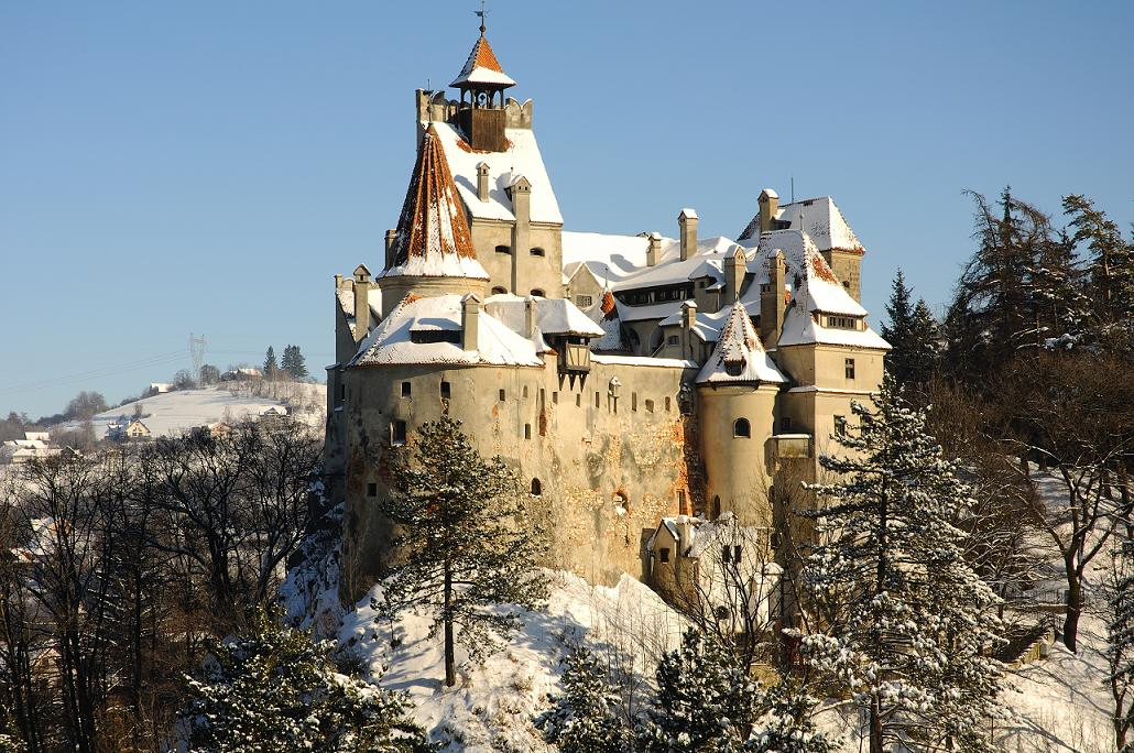 Dracula's Bran Castle viewed from the same level