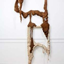 French Artists Bonsoir Paris Sculpt Melting Wooden Picture Frames