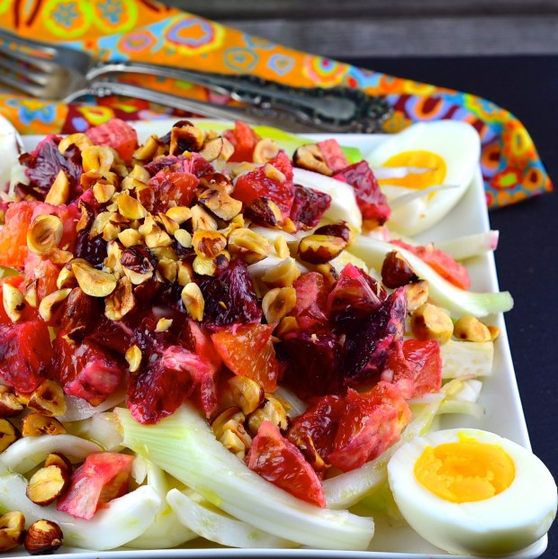 Fennel and blood orange salad with hazelnuts from May I  Have That Recipe