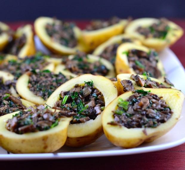 passover mushroom stuffed potatoes