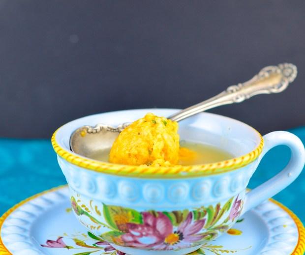 sweet potato and cream cheese matza balls