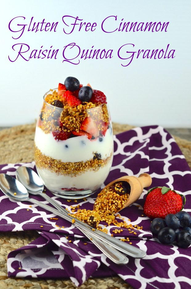 Not only for Passover Recipes: Gluten Free Quinoa Granola #passover #granola #quinoa #breakfast #grainFree #Vegan #kosher #Cinnamon # Raisin