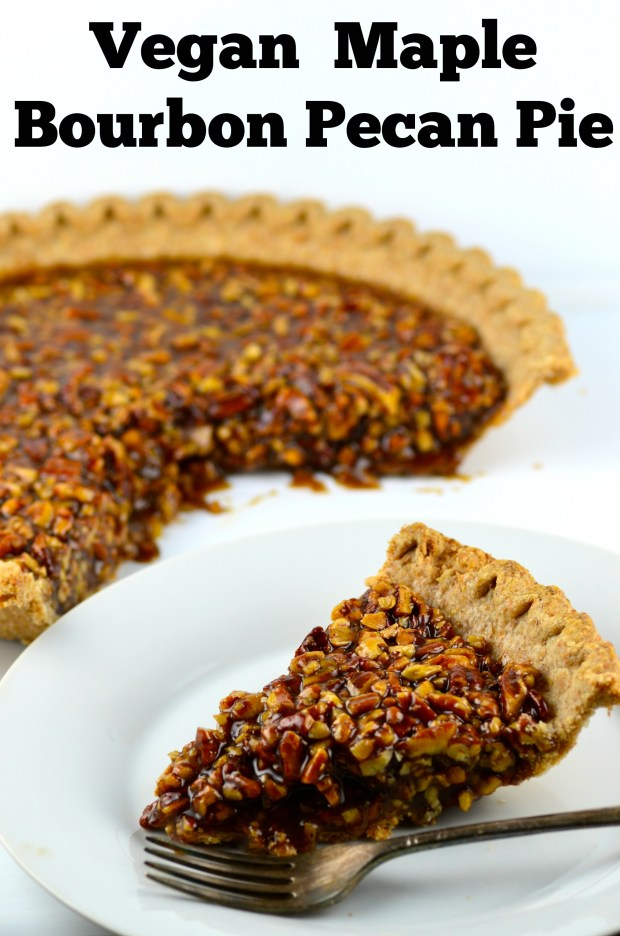 Vegan Maple Bourbon Pecan Pie