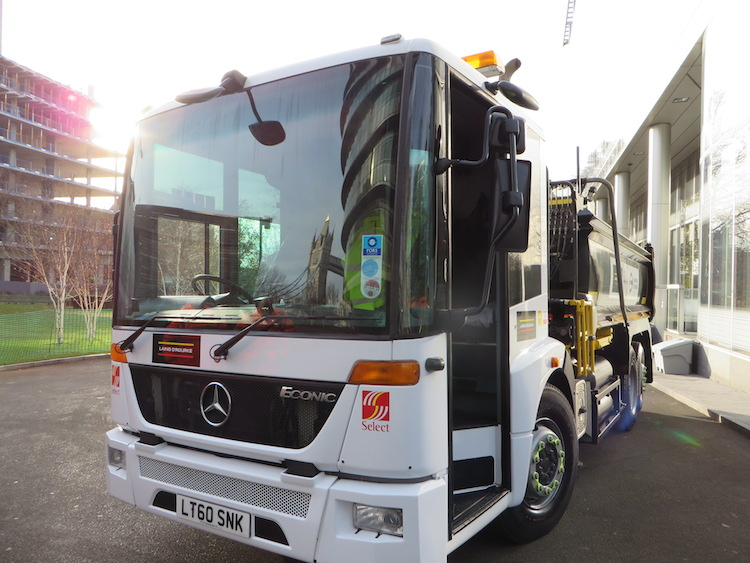 The concept HGV includes a number of new safety-related design features including a lower cab and larger window.