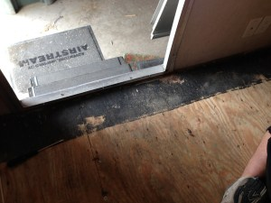 Entryway threshold removed