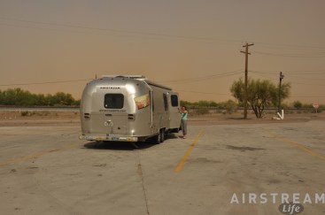 Parked in Picacho to wait out dust storm on I-10