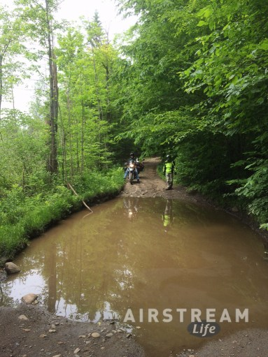 Too big puddle BMW motorcycle