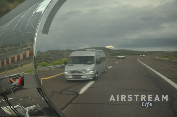 Airstream Interstate reflection milk truck
