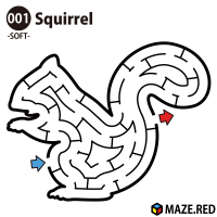Easy maze of the squirrel