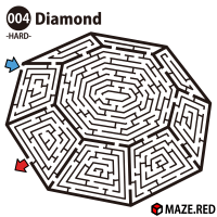 Difficult maze of the diamond