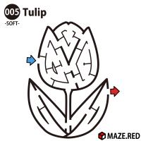 Easy maze of the tulip