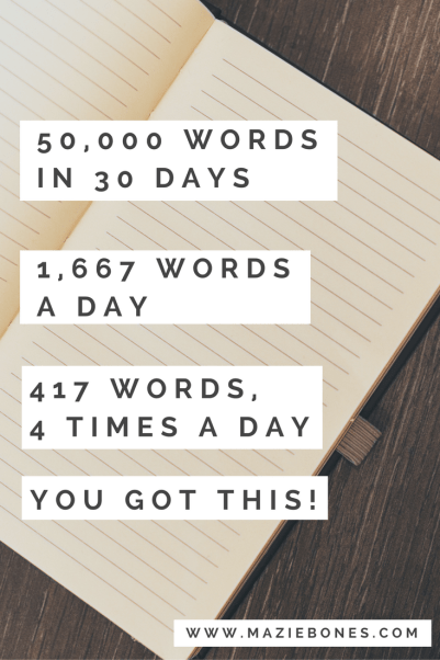 50,000 words in one month