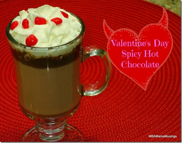Valentines Day Hot Chocolate Topped with GayLea Whipped Cream