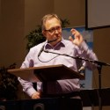 Former BCMB conference minister Steve Berg paid tribute to Marilyn Hiebert, director of administration, on her retirement, praising her integrity, competence, and &quot;good calls&quot; of judgment. He said her 12 years in the conference office was a &quot;job incredibly well done.&quot;