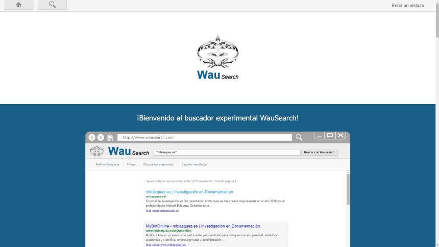 Figura 4. Página de aspectos relevantes de WauSearch