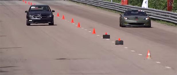 Mercedes-Benz Weistec C63 AMG vs C6 Corvette Z06 Slider
