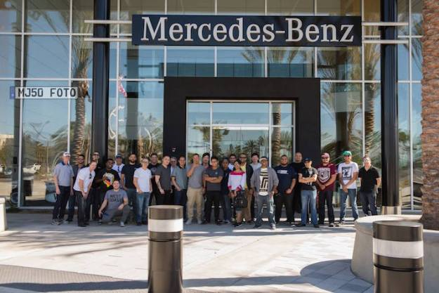 Mb world members visit mercedes benz vehicle preparation for Mercedes benz long beach ca