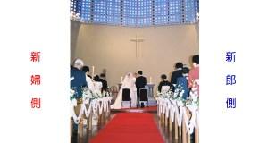主聖堂の席の配置