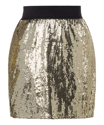 StyleMint Gold Donner Skirt