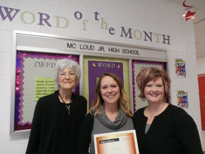 Elfrige Nikkel, Leslie Bork and Angela Drew, Junior High Principal