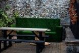 grassy bench