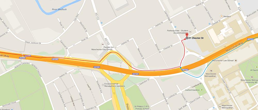 map of venue surroundings