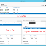 The components of the NIC Teaming Management UI