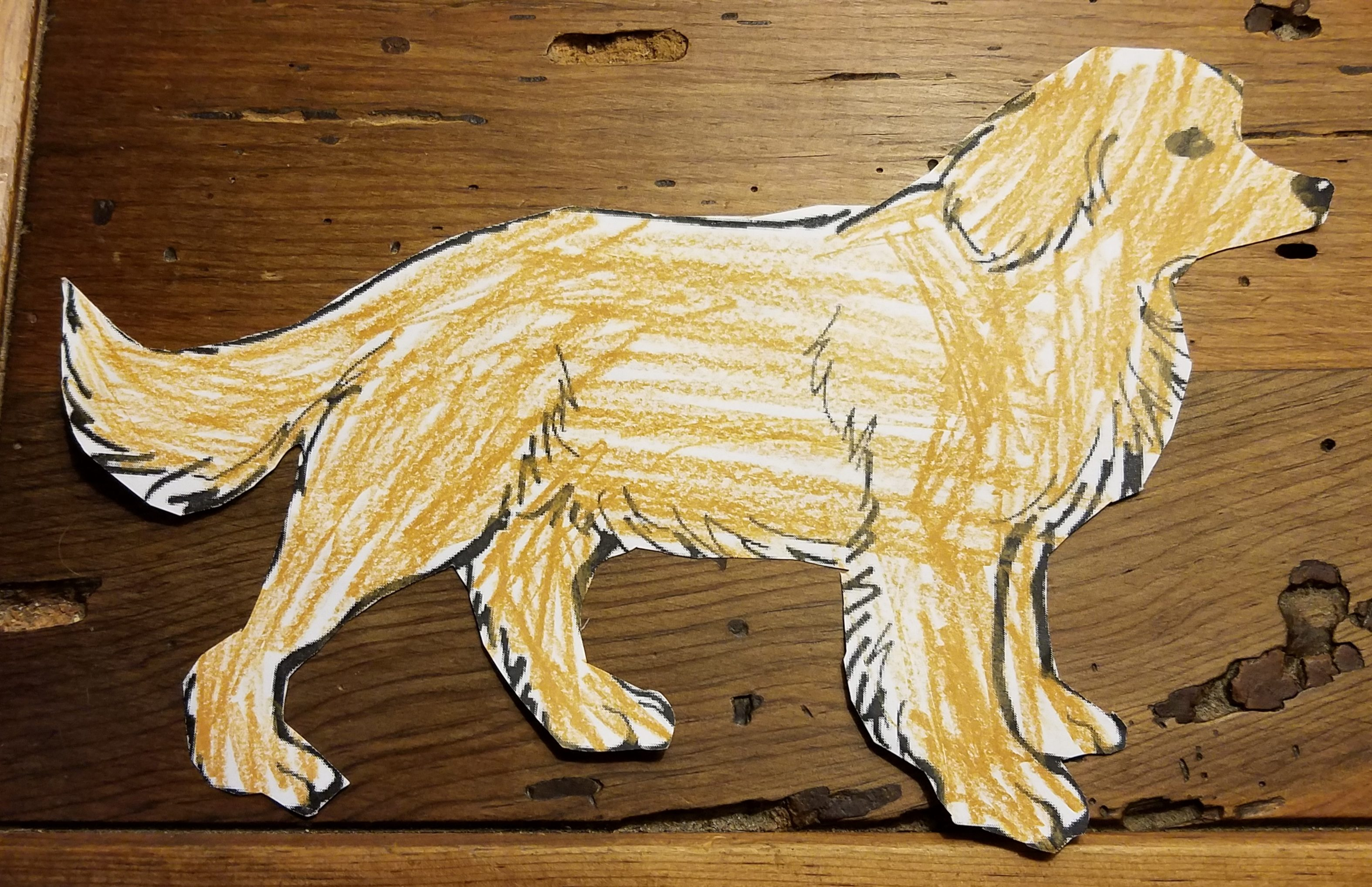 A Couple Even Had Gifts Two Boys Gave Him Drawings Of Golden Retrievers That They Cut Out Coloring Books I Dont Know If It Meant More To Them Or