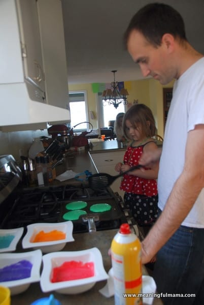 1-rainbow pancakes st. patrick's day