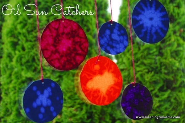 Oil Suncatchers